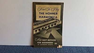 1959 Vintage How To Play the Hohner Harmonica 24 pgs Rough Shape