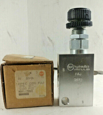 1 New Sun Hydraulics Rpec-Obn Pistion Relief Valve Nib ***Make Offer***