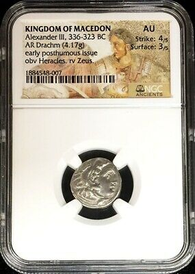 336-323 Bc Silver Macedon Drachm Alexander Iii Lifetime Issue Coin Ngc About Unc