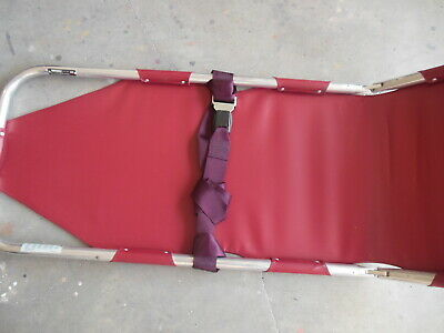 FERNO Folding Stretcher Folding Aluminum Frame - Red Nylon Patient Surface Area