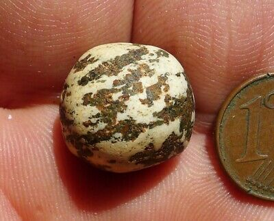 16mm Pearl Antique Neolithic Mali Sahara Ancient Neolithic Agate Carnelian Bead