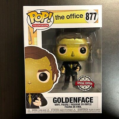 Funko Pop The Office The Goldenface Jim Halpert Target Exclusive Mint Condition