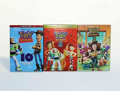 Toy Story Trilogy DVD Combo Set Disney Pixar Free Shipping New 1 2 3