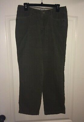 Columbia Green Corduroy Relaxed Fit Mid Rise Pants 31x28 Women's Size 10P
