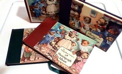 The Teddy Bear Lover's Photograph Album Set Purple Green Burgundy Red Books