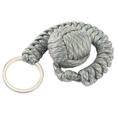 "Security Protecting Monkey Fist Self Defense 550 Cord Key Chain 2/3"" Steel Ball"