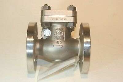 """Aloyco 377 Stainless Flanged 1"""" in class 150 Swing Gate Check Valve bolted cover"""