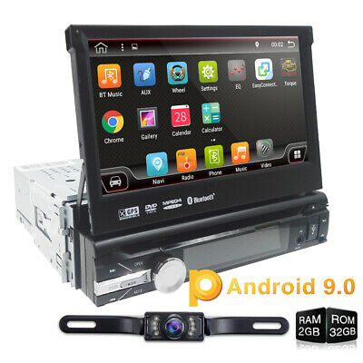 HIZPO Car DVD radio player Android 9.0 GPS Navigation WiFi single Din 4GB 32GB