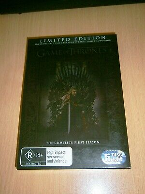 Game of Thrones - LIMITED EDITION Season 1 - 5 disc DVD set - Region 4