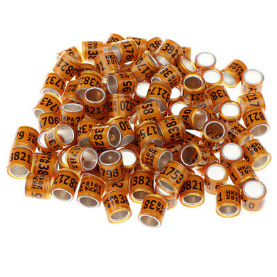 700PCS PIGEON FOOT Rings with AU Word Durable Reusuable Bird