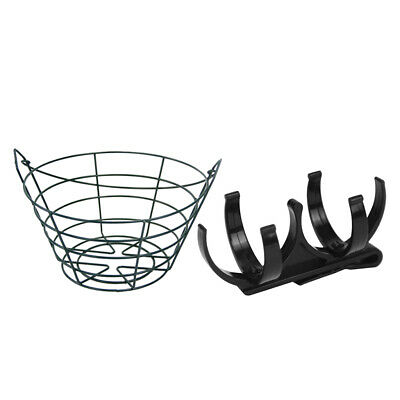Golf Ball Holder with Clip Holds 2 Balls and Storage Metal Basket Bucket