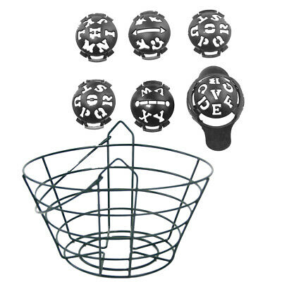 Metal Golf Bucket Container with Golf Ball Marker Line Letters Drawing Tool