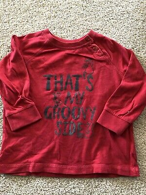 Baby Boys Esprit Red Long Sleeve T-Shirt - Size 1