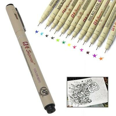 0.5 Art Manga Fine Point Copic Graphic Sketch Drawing Markers Pen chic IC1U