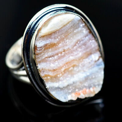 Large Desert Druzy 925 Sterling Silver Ring Size 10 Ana Co Jewelry R962579F