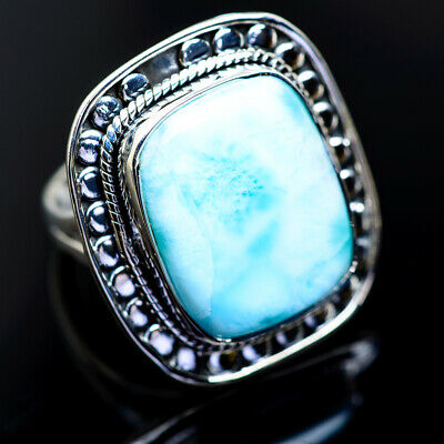 Large Larimar 925 Sterling Silver Ring Size 9 Ana Co Jewelry R962939F