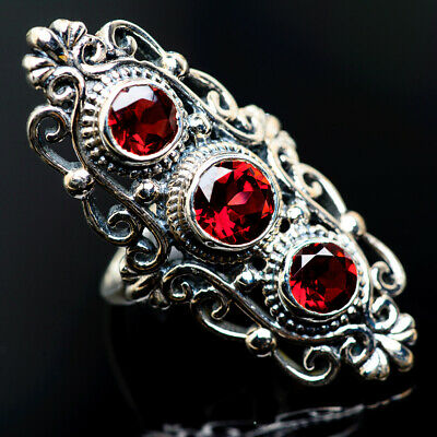 Large Garnet 925 Sterling Silver Ring Size 7 Ana Co Jewelry R962633F