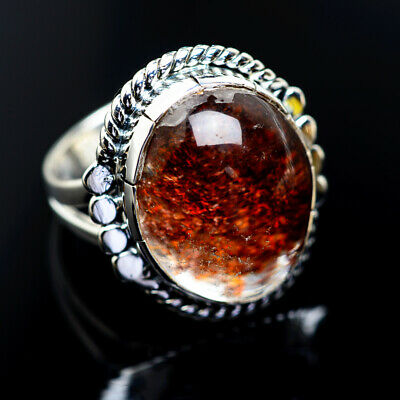 Large Garden Quartz 925 Sterling Silver Ring Size 7.5 Ana Co Jewelry R962902F