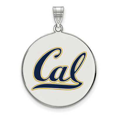 925 Sterling Silver Rhodium-plated Laser-cut The University of Wyoming Small Pendant
