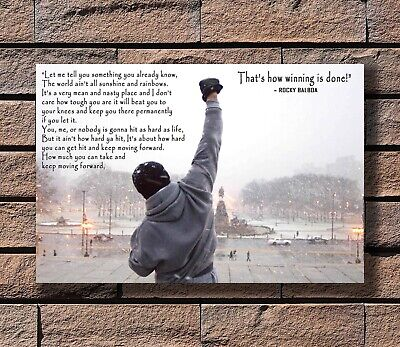 8x12inch Poster New Rocky Balboa Motivational Quote Sylvester Stallone T-972