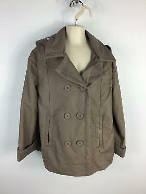 Girls Cyrillus Brown Smart/Casual Double Breasted Coat Jacket Kids Age 10 Years