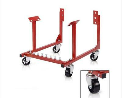"""1000lb Auto Engine Cradle Stand for Chevrolet Chevy w/Dolly Wheels 3"""""""