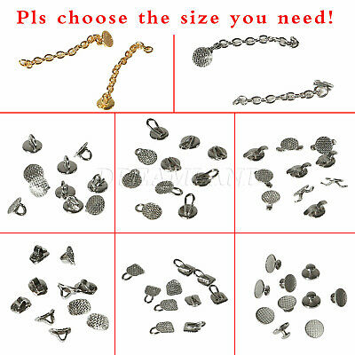 10Pcs/Bag Dental Orthodontic Lingual Buttons Bond Round Mesh Base Traction Chain