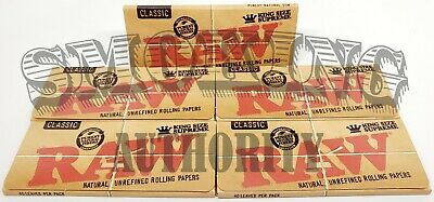 RAW CLASSIC ROLLING PAPERS ✓ 5 PACK ⭐️ KING SIZE SUPREME ⭐️ Natural Unrefined ✓