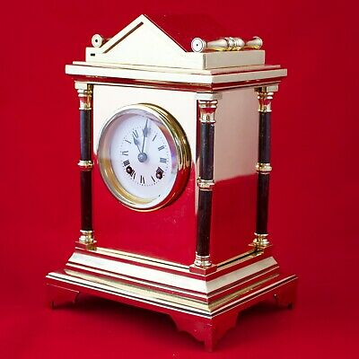 Antique brass gilt mantel clock by W.J. Benson c1871