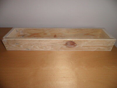 """Handmade Wooden Soap Mould / Unpainted /Made from Reclaimed Wood /length 16"""""""