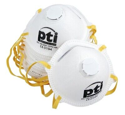 PTI P2 Valved Dust Mask Box of 10