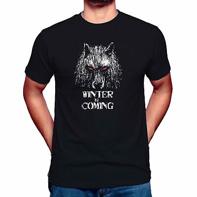 WINTER IS COMING Mens T-Shirt Top Game of Thrones Stark Wolf Inspired Unisex Top