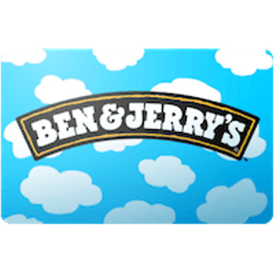 Ben & Jerrys Gift Card $25 Value, Only $24.00! Free Shipping!