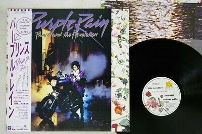 PRINCE & THE REVOLUTION PURPLE RAIN WARNER P-13021 Japan OBI POSTER VINYL LP