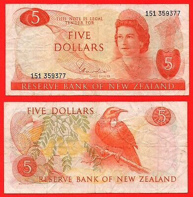 New Zealand 5 dollar banknote
