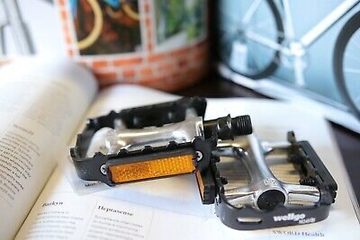 Wellgo M248DU Ball Bearing Aluminum Mountain Road Pedals with Reflector