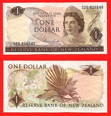 New Zealand 1 dollar banknote