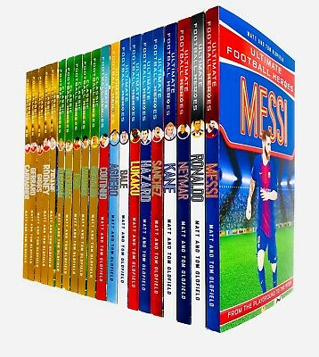 Ultimate Football Heroes Collection 20 Books Set by Matt & Tom Oldfield NEW