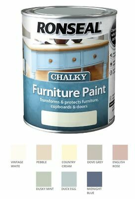 Ronseal Chalky Furniture Paint 750ml Chalk Paint Shabby Chic