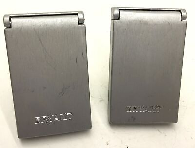 Lot of 2 Brant LR 1680 With Socket Cover With Wall Plug, 30A, 120/208V, 4 Plug