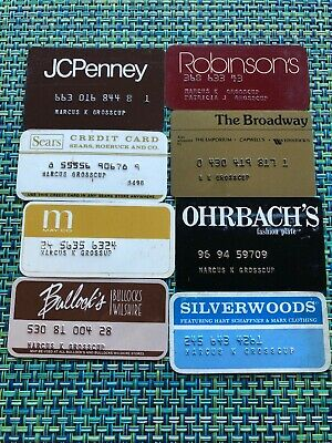 Vtg 1970s Lot Of 8 Credit Card Southern CA Department Stores- Ohrbachs, May Co