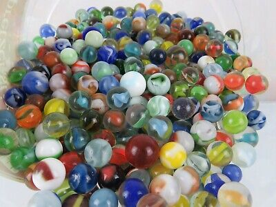 Unsearched Mixed lot Vintage Estate Marbles 1 Shooter & 40 various styles/sizes