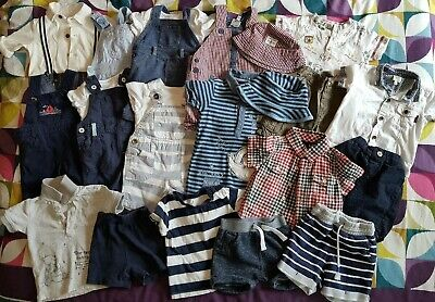 Boys Summer Bundle 3-6 Months Inc Outfits Dungarees Rompers Baker Gap George Etc