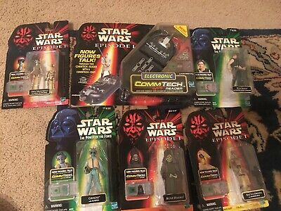 Lot of STAR WARS Electronic Comm Tech Reader and Figures
