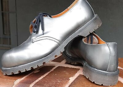 Dr. Martens UK, silver leather shoe, size 12