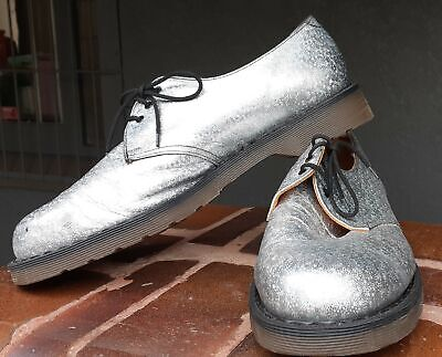 Dr.Martens shinny silver leather shoe, UK, size 11