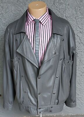 Leather 1980's jacket, by 'Skins and Things' adjustable sizing form XXL to XXXL.