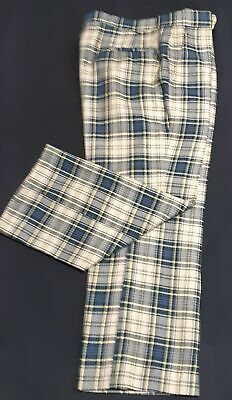 Checked pants, wool, 1960's USA by 'Corbin Gentleman's Clothing', size L shor...