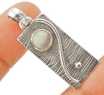 Charming Design Aqua Chalcedony 925 Solid Sterling Silver Pendant Jewelry C29-8