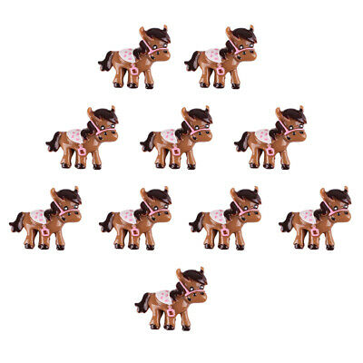 Lot 10 pcs Western Cowgirl Horse Resin Flatback Girl Hair Bow Center Crafts DIY